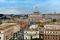 The view from castel sant angelo towards vatican city rome italy Royalty Free Stock Photo