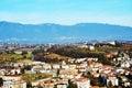 View from the Castello on Colle di Giano, Conegliano Veneto Royalty Free Stock Photo