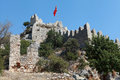 View of Castle in Kalekoy, Kekova. Stock Images