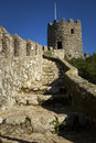 View of the castle of the moors in sintra portugal november was constructed during th and th Stock Images