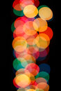 View of catchy colorful blurry Christmas lights Stock Image