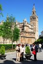 Cathedral and Giralda tower, Seville, Spain. Royalty Free Stock Photo