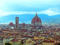 View of the Cathedral Santa Maria del Fiore in Florence, Italy Royalty Free Stock Photo
