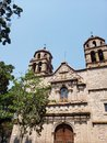 view of a catholic church in the city of Morelia, Mexico Royalty Free Stock Photo