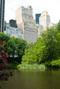 View from central park in the spring Royalty Free Stock Images