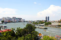 View of the Chao Praya River in Bangkok Stock Image