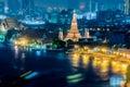 A view of Chao Praya River in twilight. Bangkok, Thailand