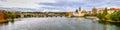 View on charles bridge and vltava river in prague czech republic Stock Photo