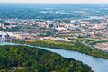 View of chattanooga tennessee from lookout mountain Royalty Free Stock Image