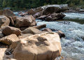 View of Cheat River rapids near Albright Royalty Free Stock Photo