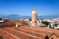 View of chefchaouen from the kasbah Royalty Free Stock Photo