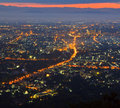 View of chiangmai city in thailand Stock Photos