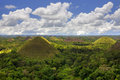 View of the chocolate hills in bohol philippines Royalty Free Stock Images