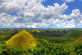 View of the chocolate hills in bohol philippines Stock Photography