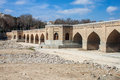 View of chubi bridge in esfahan iran Royalty Free Stock Image