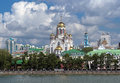View of the Church on Blood in Yekaterinburg Royalty Free Stock Photography