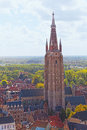 View of Church Of Our Lady Bruges Royalty Free Stock Photos