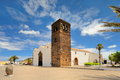 view of Church of Our Lady of Candelaria in La Oliva, Fuerteventura, Canary Islands, Spain Royalty Free Stock Photo