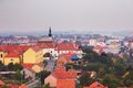 View on church of st filip and jakov panaroma vukovar in vukovar croatia Stock Photos