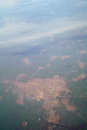 View of the city from airplane Royalty Free Stock Photography