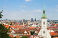View of the city of bratislava slovakia Royalty Free Stock Photo