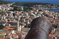 View of the city of Hvar from a fortress. Island Hvar. Croatia. Royalty Free Stock Photo
