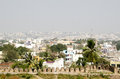 View of the city of hyderabad from the historic golcanda fort built during the mughal empire Royalty Free Stock Photos
