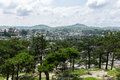 View of the city of Kaesong, North Korea Royalty Free Stock Photo