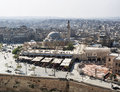 View of city and mosque in aleppo syria Royalty Free Stock Photo