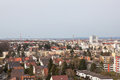 View of the city from the observation deck Royalty Free Stock Photo