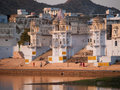 View of the City of Pushkar Stock Images