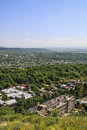 View on city pyatigorsk and mountain beshtau northern caucasus russia Stock Images
