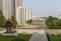 View of the city Pyongyang. North Korea