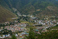 View of the city thimphu bhutan from a mountain Royalty Free Stock Photos