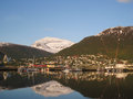 View of the city Tromso Royalty Free Stock Photo