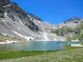 View of clear lake is a on the top a mountain in silverton colorado Stock Images