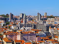 View from clerigos tower in porto torre dos portugal Stock Photography