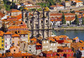 View from clerigos tower in porto torre dos portugal Royalty Free Stock Image