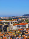 View from clerigos tower in porto torre dos portugal Stock Image