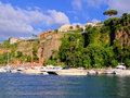 View cliffs sorrento italy harbor Royalty Free Stock Photos