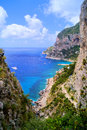 View coast island capri italy Stock Images