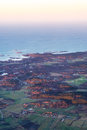 View of the coast of Sweden Northern Sea, Aircraft view 2