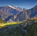 View from the col d isoard pass alps france Stock Photos