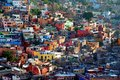 View at the colorful houses of Guanajuato, Mexiko