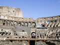 View of coloseum inside rome italy Stock Photos
