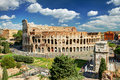 View of the Colosseum in Rome Royalty Free Stock Photo