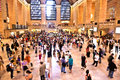 View of commuters and tourists new york city july flood the grand central station during the afternoon rush hour july in new york Stock Photos