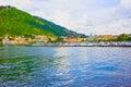 The view of Como lake, Bellagio, Italy. Royalty Free Stock Photo