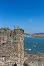 View of Conwy River as seen from Conwy Castle Royalty Free Stock Photo