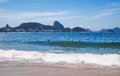 View of copacabana beach and sugar loaf in rio de janeiro brazil Stock Image